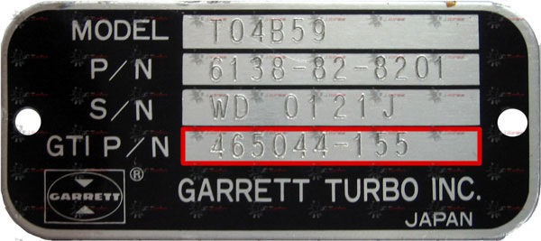 Indentification Turbo GARRETT