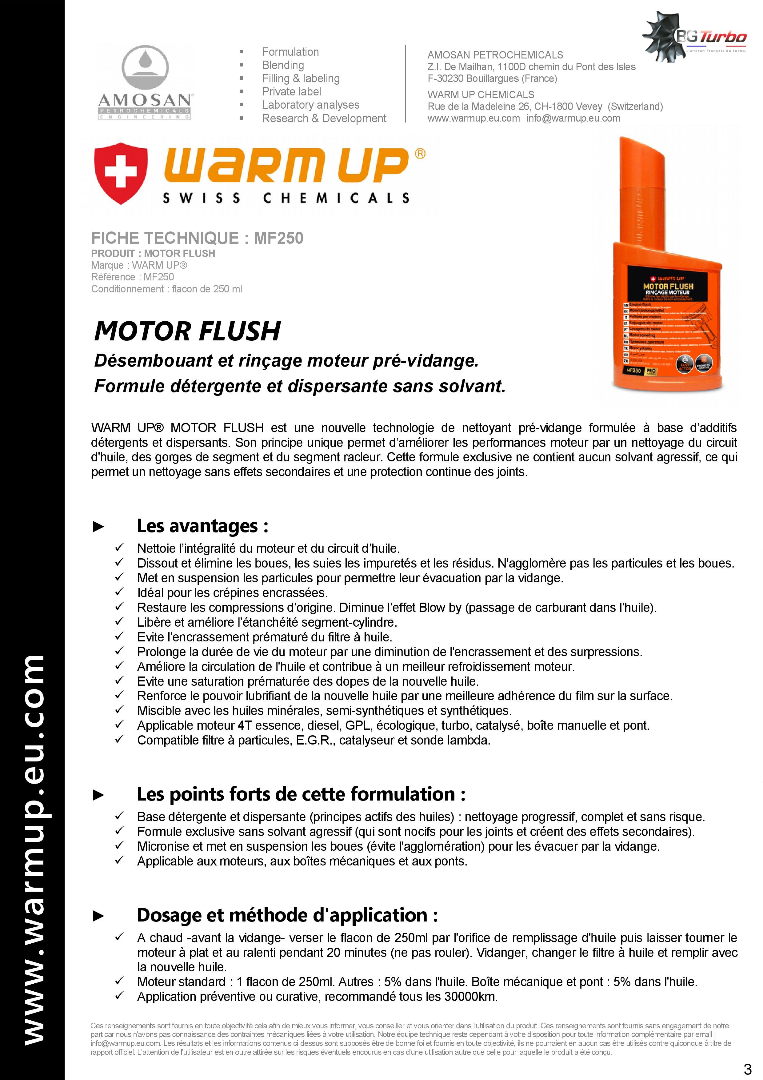 WARM UP Motor Flush 250 ml