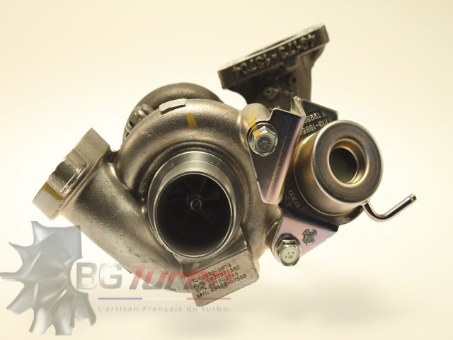 Turbo TURBO - MITSUBISHI RECONDITIONNÉ EN FRANCE - PEUGEOT CITROEN FORD VOLVO DV6 207 308 PARTNER BERLINGO C3 JUMPER FIESTA FOCUS S40 V50 1,6 L 90 CV - 4917307508